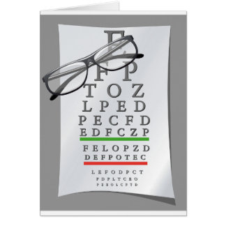 Optometrist Chart Greeting Cards