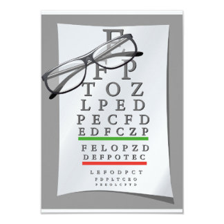 Optometrist Chart Invitations