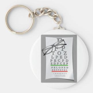 Optometrist Chart Keychain