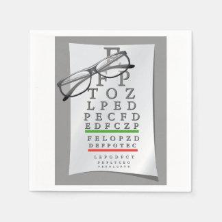 Optometrist Chart Paper Napkins
