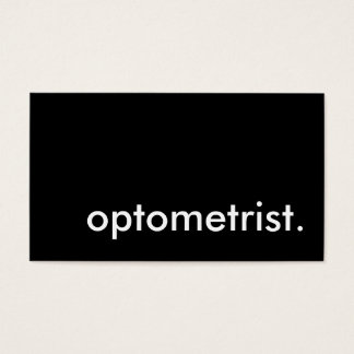 optometrist. (color customizable) business card