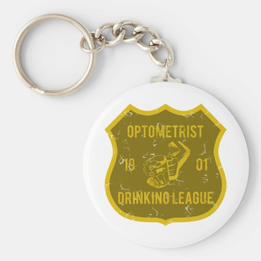 Optometrist Drinking League Key Chain
