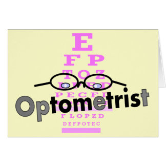 Optometrist Gifts, Eyeglasses and Eyechart Design Greeting Card