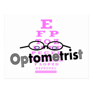 Optometrist Gifts, Eyeglasses and Eyechart Design Postcard