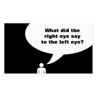 optometrist joke pack of standard business cards