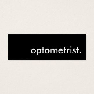 optometrist. mini business card