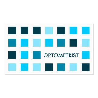 OPTOMETRIST (mod squares) Business Card