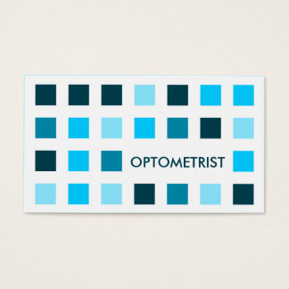OPTOMETRIST (mod squares) Business Card