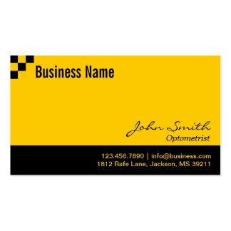 Optometrist Modern Black & Gold Business Card