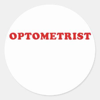 Optometrist Round Sticker