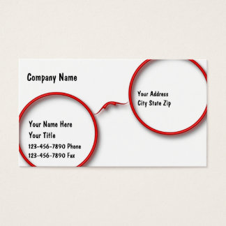 Optometry Business Cards