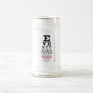 Optometry Eye Chart Illustration Coffee Mug