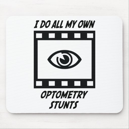 Optometry Stunts Mouse Pad