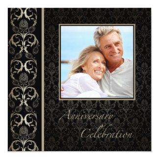 Opulence Photo Anniversary Invitation