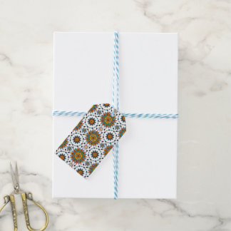 Opulent Maharaja India Star Flower Pattern Gift Tags