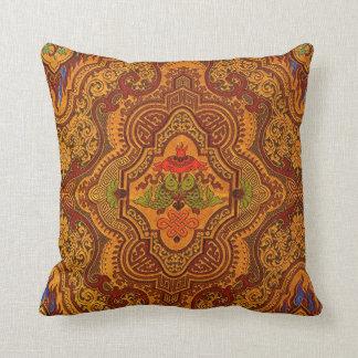 Opulent Oriental Silk Throw Pillow
