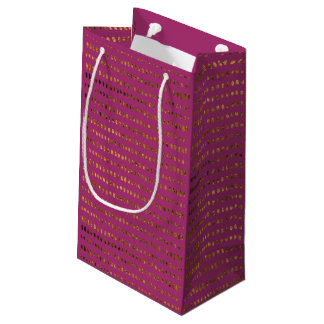 Opulent Purple and Faux Gold Wedding Gift Bag