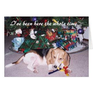 Opus Beagle Christmas Card