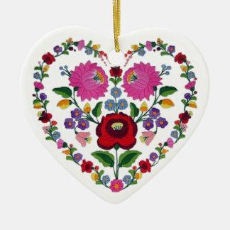 OPUS CHANGEABLE Hungarian Heart TBA Ceramic Heart Ornament