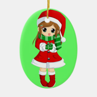 OPUS CHANGEABLE Japanese anime xmas and xmas bell Ceramic Oval Ornament