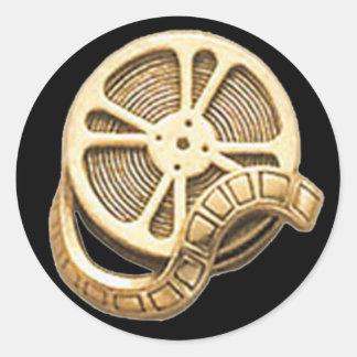 OPUS Gold Film Reel Classic Round Sticker