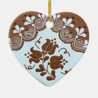OPUS Hungarian Gingerbread Heart TBA Ceramic Heart Ornament