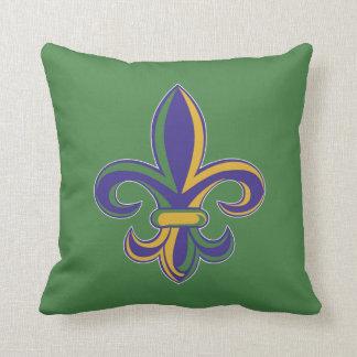OPUS Mardi Gras Fleur De Lis Throw Pillow