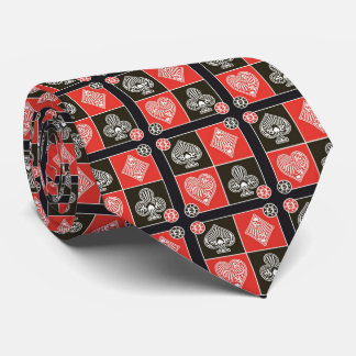 OPUS Red and Black Cards Tie