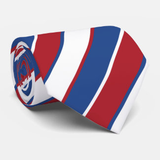 OPUS Red-White-Blue Tricolor Flag Tie
