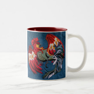 OPUS Rooster - Cock's Blood Two-Tone Coffee Mug