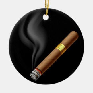 OPUS Smoldering Cigar Ceramic Ornament