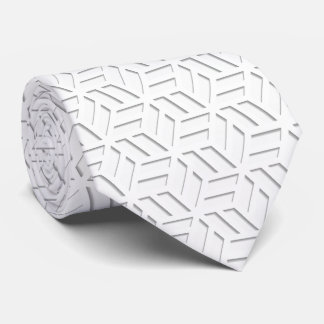 OPUS White Wedding 3D Cube Box Tie