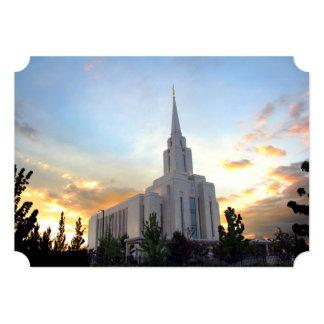 Oquirrh Mountain LDS temple utah mormon sunset Card
