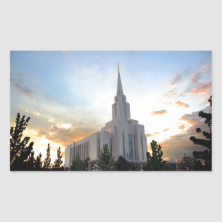 Oquirrh Mountain LDS Utah Temple sunset