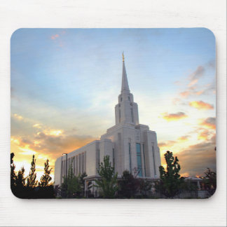 Oquirrh Mountain LDS Utah Temple sunset Mouse Pad