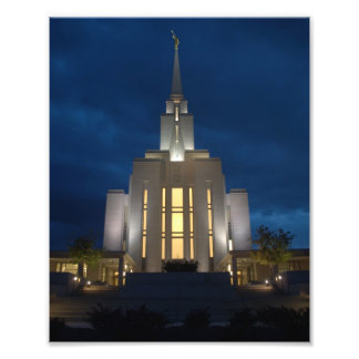 Oquirrh Mountain Utah LDS (Mormon) Temple Photo Print