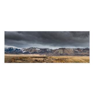 Oquirrh Mountains Winter Storm Panorama - Utah Photo Print
