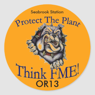 OR13 FME Seabrook Round Sticker