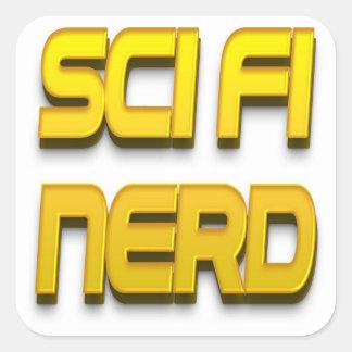 Or de ballot de la science fiction sticker carré