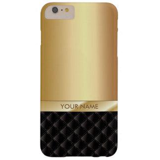 Or de luxe royal avec le nom fait sur commande coque iPhone 6 plus barely there