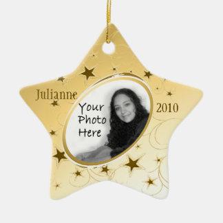 Or de photo d'All Star de vacances Ornement Étoile En Céramique