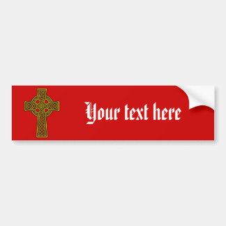 Or de skelton de croix celtique autocollant de voiture