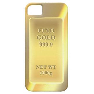 Or fin brillant 999,9 avec le texte coque Case-Mate iPhone 5