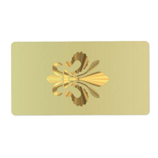 Or fleur de lys étiquettes d'expédition
