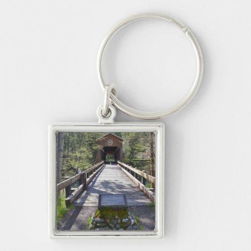 OR, Jackson County, McKee Covered Bridge Keychain