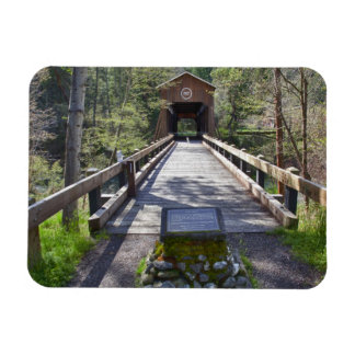 OR, Jackson County, McKee Covered Bridge Rectangular Photo Magnet