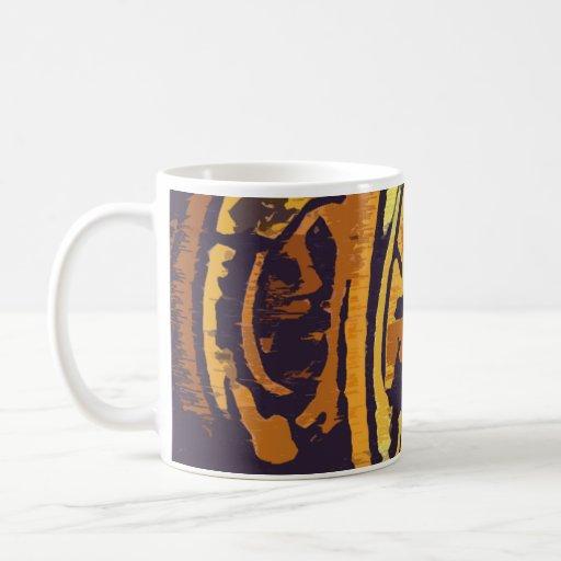 Or moderne et conception pourpre mugs