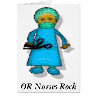 OR Nurses Rock Card
