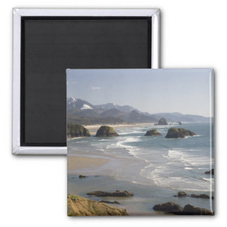 OR, Oregon Coast, Ecola State Park, view of Square Magnet