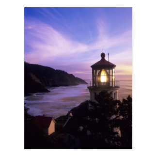 OR, Oregon Coast, Heceta Head Lighthouse, on Postcard